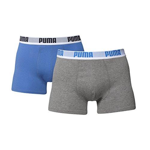 PUMA Men Basic Boxer - 6er Pack Blue/Grey