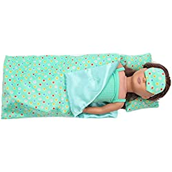 Vovotrade® Ensemble Literie Sac Couchage Américain Fille Poupée Accessoire Fille Jouet Bedding Set Sleeping Bag for 18 inch American Girl Doll Accessory Girl's Toy (Green)