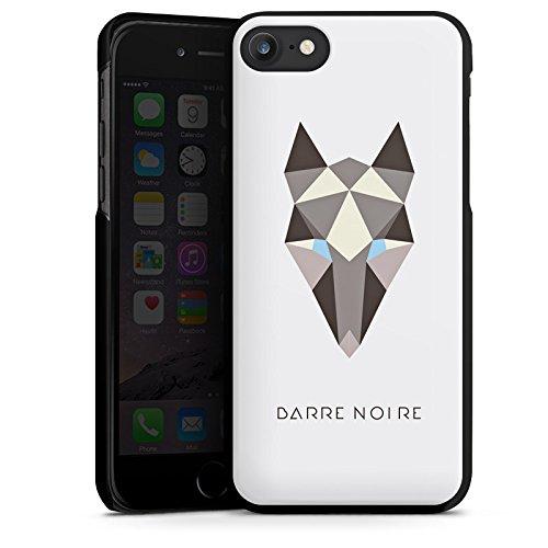 Apple iPhone X Silikon Hülle Case Schutzhülle Fuchs Muster Fox Hard Case schwarz