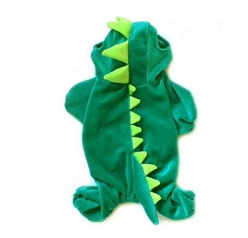 Kostüm Dinosaurier Katze - TFWJ Haustier Hund Katze Kostüme Dinosaurier Halloween Mantel,S