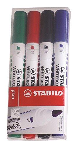 stabilo-plan-pochette-de-4-marqueurs-effacable-a-sec-coloris-assortis-pointe-biseautee