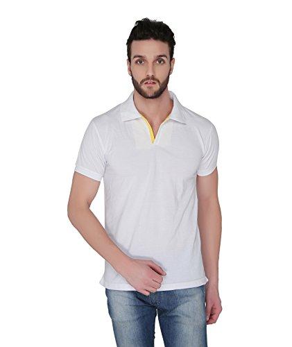 Joke Tees Solid Men's Polo T-Shirt (White) (X-Large)