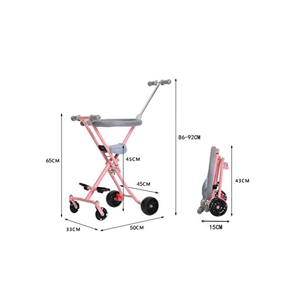 Children Stroller Trolley With Brake Baby Artifact 4 Round 1-3-4-5-6 Years Old Baby Out Baby Child Hand Folding Cart,b  1. Foldable design, easy to put into the trunk, making the journey easier. 2. Light and compact, for the mother to travel to reduce the burden! 3. 360° freely rotates the front wheel and rear wheel brakes. 2