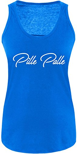 EZYshirt® Pille Palle Damen Tanktop Royal/Weiss