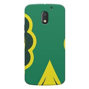 Printed back cover for Moto E3 by Motivatebox. Skull Nature Design design, Polycarbonate Hard case with premium quality and matte finish