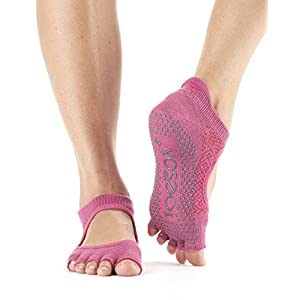 Toe Sox Zehensocken Half Zehen Bellarina Grip Socken