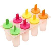 Dosige 6er-Set Eis Pop Maker Set Ice Pop Formen Stieleisformer Eis Lutscher Stieleisformen Eisformen Beste Eiscreme Formen aus Kunststoff