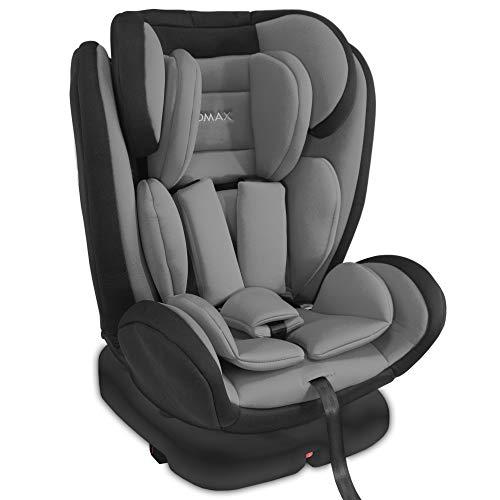 XOMAX XM-KI360 Kindersitz mit 360° Drehfunktion und ISOFIX I Liegeposition I 0-36 kg, 0-12 Jahre, Gruppe 0/1/2/3 I 5-Punkt-Gurt und 3-Punkt-Gurt I Bezug abnehmbar und waschbar I ECE R44/04