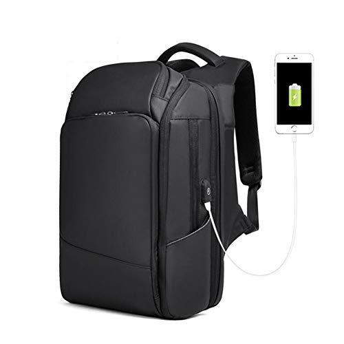 WYX Laptop-Rucksack, Profi-Backpack-Tasche mit USB-Ladehafen, Schulrucksack für Männer im Freien Wandern Camping Trekking