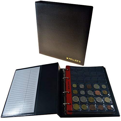 8876c007c7 Collectors album per 350 monete, 10 pagine, tasche 27 x 27 MM. Ideale per  piccole monete fino a 2,3 cm (23 mm). Raccoglitore ad anelli, taglia M