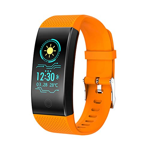 LRWEY Fitness Armband Herzfrequenz Smart Armband, QW18 Smart Watch Blutdruck Pulsmesser Schlaf Sport Fitness Tracker, für iPhone Android Handy