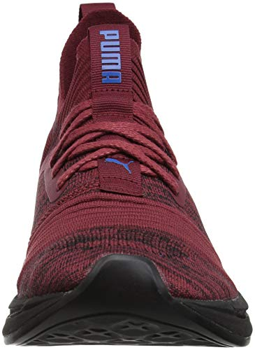 PUMA Men s Ignite Limitless SR Evoknit Sneaker  Pomegranate-Strong Blue  7 M US