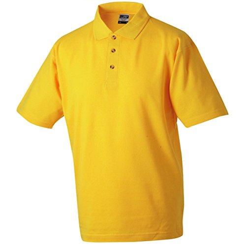 JAMES & NICHOLSON Herren Poloshirt, Einfarbig jaune d'or