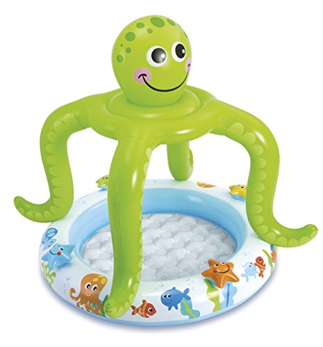 Intex Babypool Plansbecken Octopus mit Dach gepolsterter Boden