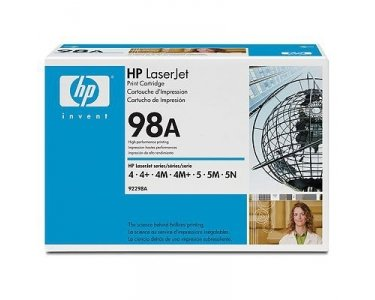 HP98A LaserJet Printer Toner Cartridge Black 92298A - Color: Black