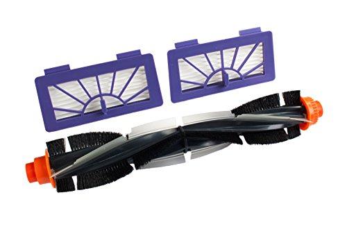 Premium Neato Zubehör Set von Hannets® 2 x HEPA Filter, 1 x gedrehte Kombibürste Neato XV Signature Pro