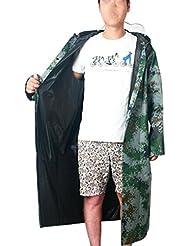WXLQ Al aire libre adulto hombres impermeables engrosamiento Oxford con capucha ropa de lluvia xl
