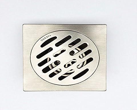 Sdkky odeur en acier inoxydable 304épaissir Siphon de sol, DE SALLE DE BAIN balcon Peut être équipé avec machine à laver l'eau Tuyau Joint, 10*10cm