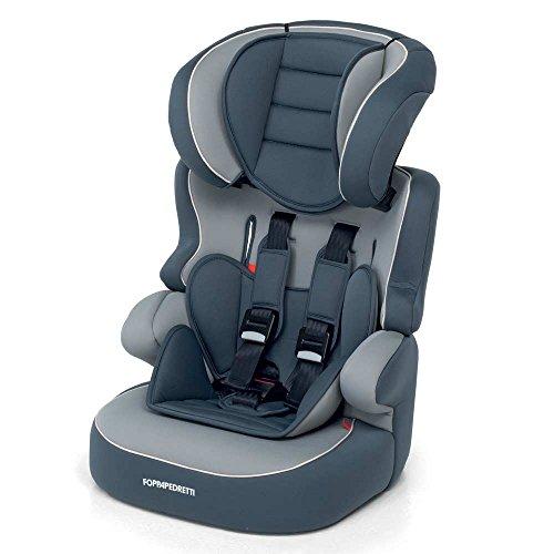 Foppapedretti Babyroad Seggiolino Auto, Grigio, Gruppo 1-2-3 (9-36 Kg) per bambini da 9 mesi a 12 anni circa