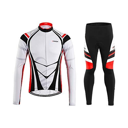 Lixada Maillot Ciclismo Hombres Manga Largo Pantalones