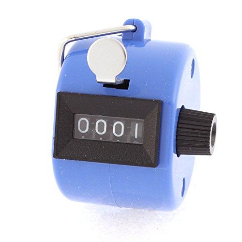 Sourcingmap® Des numéros 4 chiffres réinitialisable Protable part Compteur personnes 45mm Bleu Dia