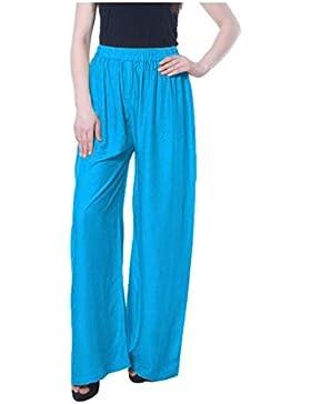 Indian Handicrfats Export Magrace Flared, Regular Fit Women's Light Blue Trousers