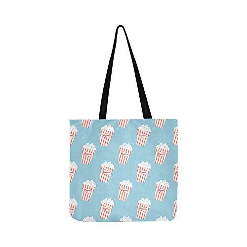 Sammlung von Popcorn handgezeichnete Leinwand Tote Handtasche Schultertasche Crossbody Taschen Geldbörsen für Männer und Frauen Einkaufstasche