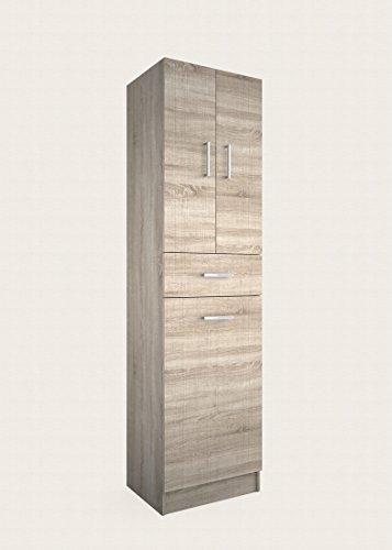 Yellowshop - mobile colonna in legno a 3 ante ed 1 cassetto armadio armadietto arredo bagno e lavanderia modello laundry vari colori (caledonia)