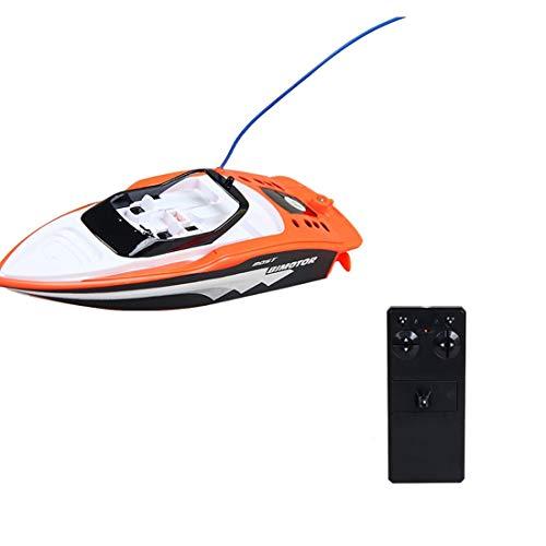 LVPY RC Boot Speedboot RC Ferngesteuertes Boot High-Speed Rennboot, 2.4 Ghz Boot Racing Boot für Anfänger und Kinder,Orange