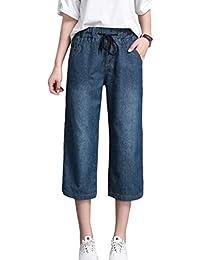 996438cef7c4e BIRAN Élégant Casual Casual Jambe Droite Jeans pour Denim Évasé breal Femmes  Kick Flare Pants sans