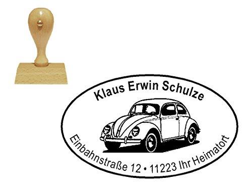 Stempel Motivstempel Adressenstempel « deutsches KULTAUTO » mit persönlicher Adresse und Motiv - Firmenstempel - Auto KFZ Oldtimer