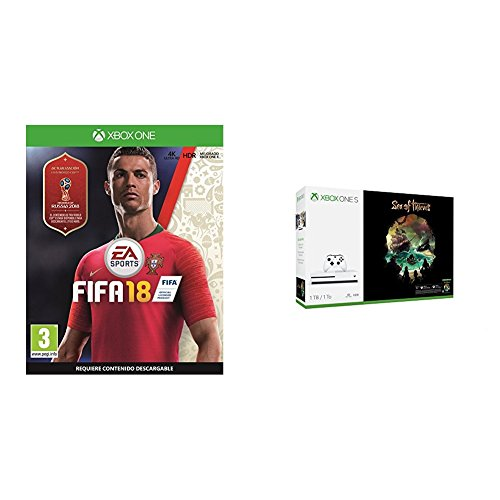 FIFA 18 - Edición estándar + Xbox One - Consola S 1 TB + Sea Of Thieves