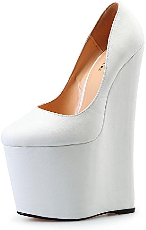 190d35ce19792b L@YC L@YC L@YC Femmes Talons Hauts PU Summer Club Chaussures s Wedge Talon  Boucle Pour la Robe de Soirée et Soirée.