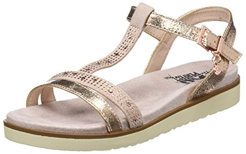 XTI Womens 47663 Ankle Strap Sandals, Pink (Nude), 6 UK
