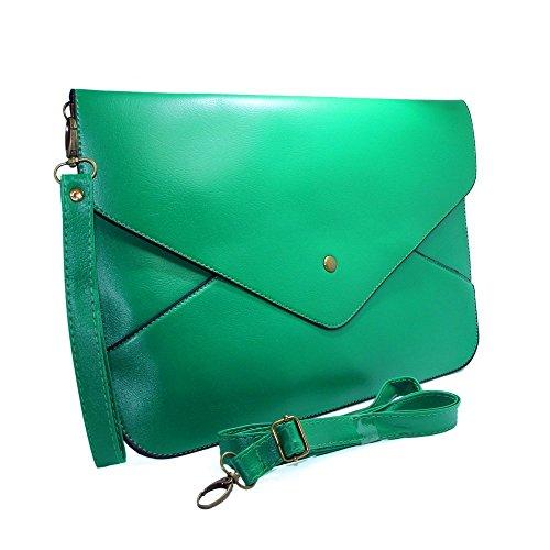 imayson-women-envelope-clutch-case-purse-shoulder-bag-handbag-tote-baggreen