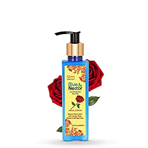 Blue Nectar Stretch Mark and Scar Body Lotion Cream with Cocoa Butter, Shea Butter and Uplifting Rose for Skin Combination (12 Herbs, 200 ml)
