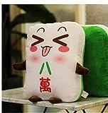 1pc 15cm 43cm creativo expresión divertida Mahjong Pacify almohadilla de la felpa del amortiguador de la cintura del regalo de cumpleaños de peluche de juguete Premio ( Color : Shape 8 , Size : 15cm )