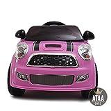 ATAA CARS Mini UNO 6V - Coche eléctrico para niños con Mando bateria 6v Rosa