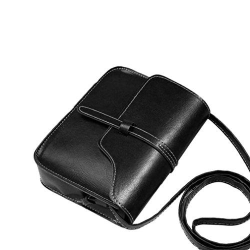Kuriertaschen Damen SUNNSEAN Frauen Vintage Quasten Klassiker Damentasche Elegant Schultertasche Mini Shopper Henkeltasche Crossbody Schulter Bag für Mädchen Messenger Bag (Schwarz 1)