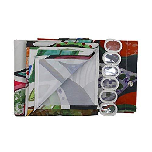GWELL Duschvorhang mit Digitaldruck inkl. 12 Duschvorhangringe 180x200cm - 4