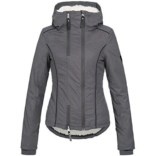 Ausnahme-Zustand Azuonda Damen Winterjacke Parka Jacke warm Teddyfell Kapuze XS-XL AZ25, Farbe:Grau, Größe:XS / 34 - 2
