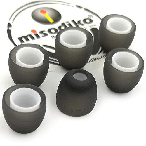 misodiko Ersatz-Silikon In-Ear Kopfhörer Ohrstöpsel - für Jaybird X4, X3, X2, X1, Run, Freedom-F5 & mehr | Geräuschunterdrückung | S550, Ø5,5mm | 3Paar, S (Klein) thumbnail