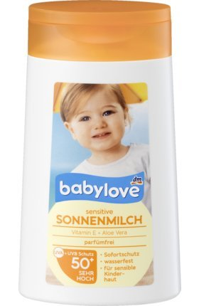 babylove Sonnenmilch sensitive LSF 50+, 200 ml