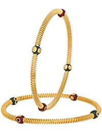 The Luxor Traditional Red And Green Bangles For Women BG-1897_2.6