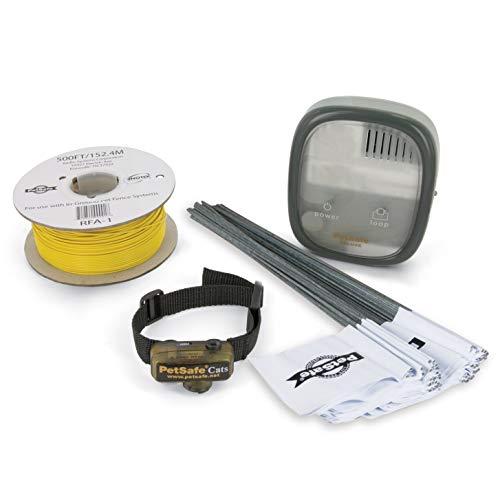 PetSafe - Clôture Anti-Fugue avec Collier Anti-Fugue Deluxe avec Fil pour Chat - Collier spécial Chat étanche - Clôture Facile à Installer