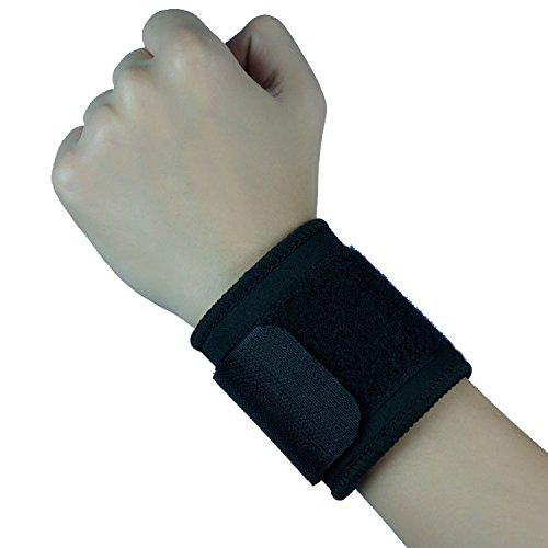 Unterstützung Wrap (seguryy 1Handgelenkbandage Wrap Bandage Unterstützung Gym Strap Einstellbare Sport Armband für Sport & Outdoor, schwarz)