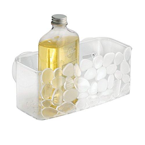 InterDesign Pebblz Duschkorb mit Saugnäpfen, durchsichtig - 2