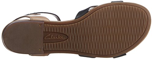 Clarks Viveca Zeal, Sandales femme Noir (Black Leather)