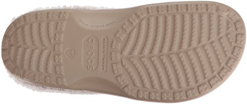 Crocs Classic Mammoth Lined Clog, Sabots Mixte Adulte Marron (Khaki/Oatmeal)