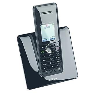 Agfeo DECT 22 Schnurlostelefon (4,6 cm (1,8 Zoll) Display, Weckfunktion, 200 Telefonbucheinträge) schwarz